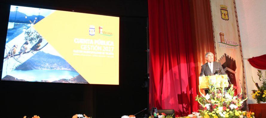 Una cifra superior a los 7 mil millones de pesos se invirtieron el 2017 en la comuna de Vicuña