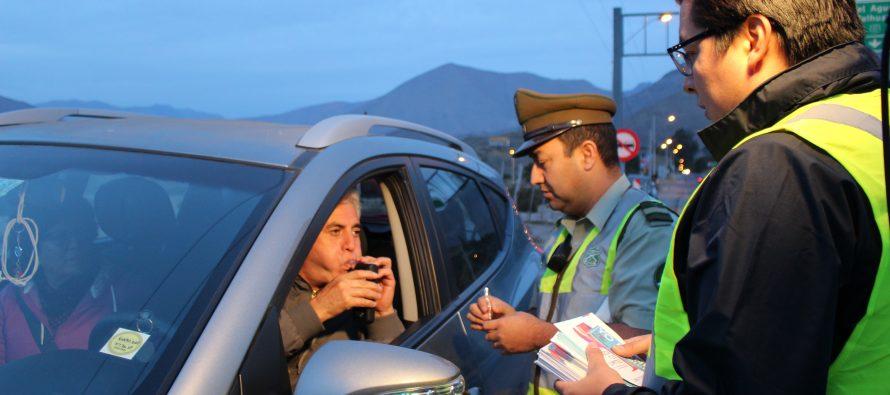 Más de 200 controles preventivos realizó Carabineros en Vicuña en conjunto con Senda