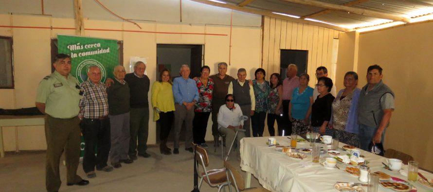 Tenencia fronteriza de Carabineros organiza actividad para adultos mayores de Huanta