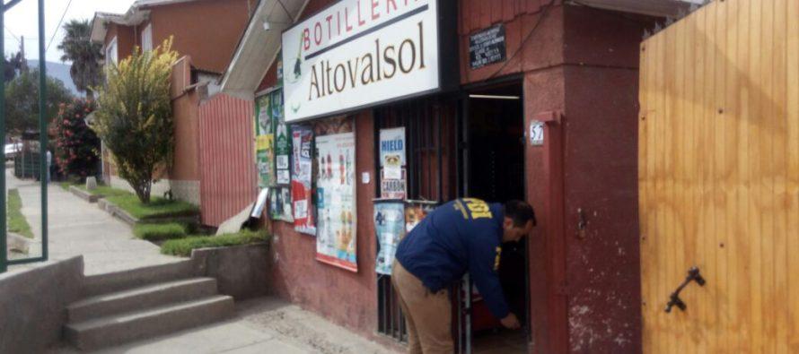 PDI investiga robo en botilleria de la localidad de Altovalsol