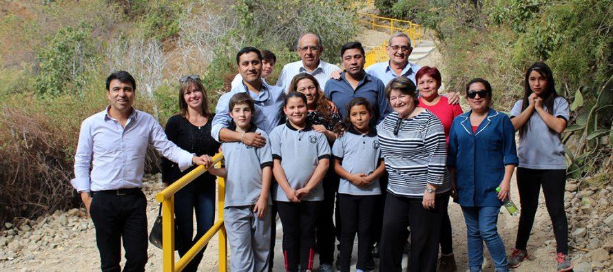 Consejeros regionales visitan proyectos en ejecución en Paihuano