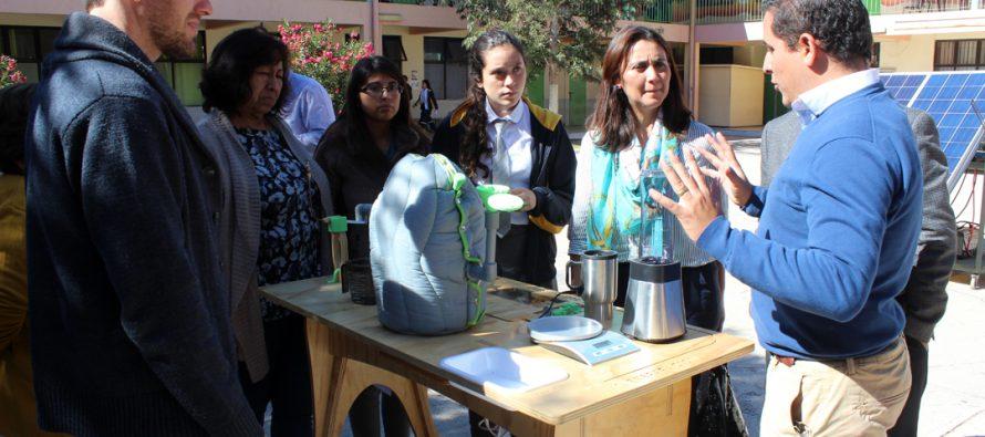 Destacan al liceo de Vicuña por contar con prototipos funcionales de Energías Renovables