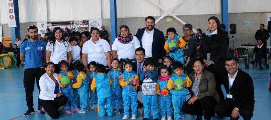 28 millones de pesos fueron invertidos en implementos deportivos para Vicuña