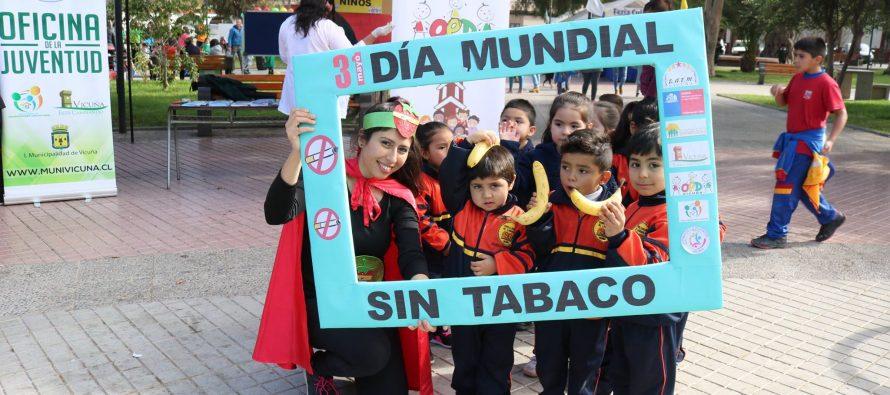 Con un llamado a la reflexión y la prevención se conmemoró el Día Mundial Sin Fumar en Vicuña