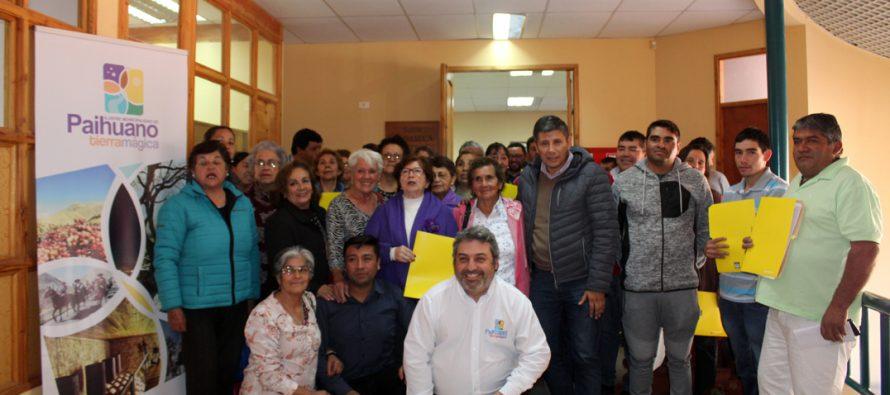 Municipio de Paihuano entrega subvenciones a organizaciones comunales