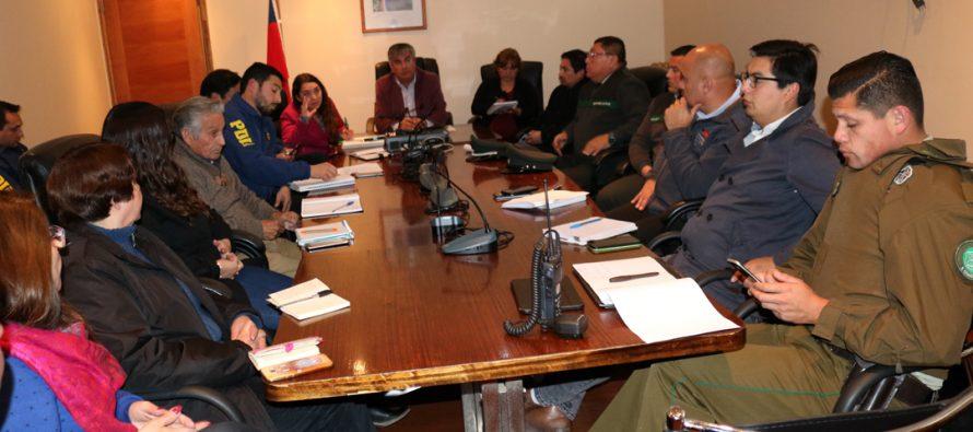 Haciendo hincapié en la denuncia realizan el 4to Consejo de Seguridad Pública de 2018 en Vicuña