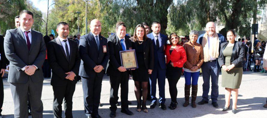Municipio de Vicuña rindió homenaje a la PDI en sus 85 años de vida institucional