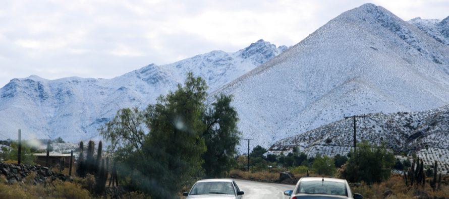 Mamalluca fue destino para disfrutar de nieve que dejó sistema frontal en Vicuña