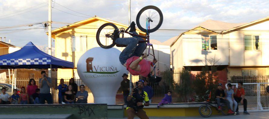 Elquinos y turistas disfrutaron la 3ra versión del Campeonato de BMX en el skatepark de Vicuña