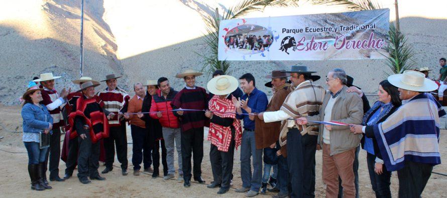 En Pisco Elqui inauguran nuevo Parque Ecuestre y Tradicional Estero Derecho