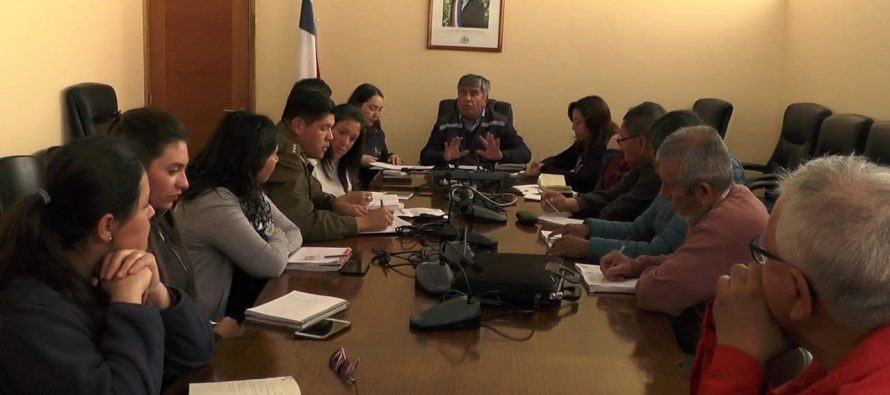 Realizan VI Consejo Comunal de Seguridad Pública en lo que va de este 2018 en Vicuña