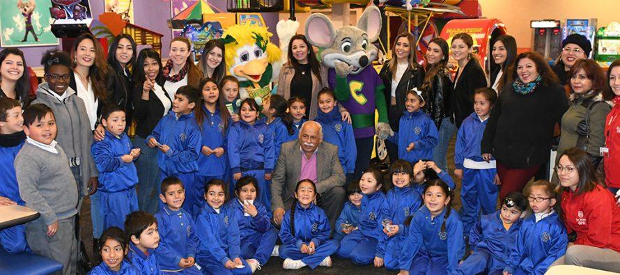 Estudiantes del colegio Alfalfares vivieron una jornada inolvidable junto a las 10 candidatas a Miss La Serena