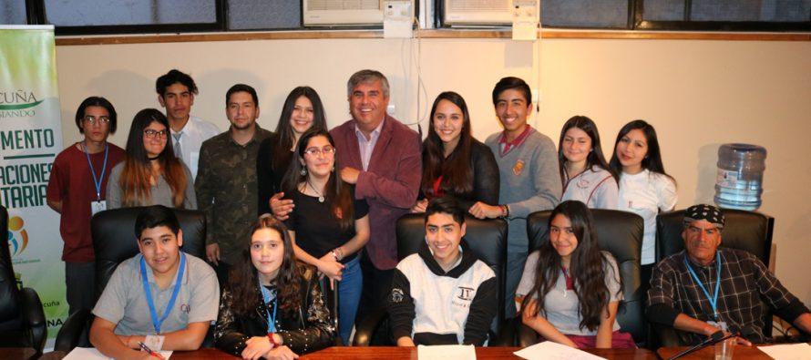 En Vicuña se hizo el lanzamiento del programa que celebrará el mes de la juventud