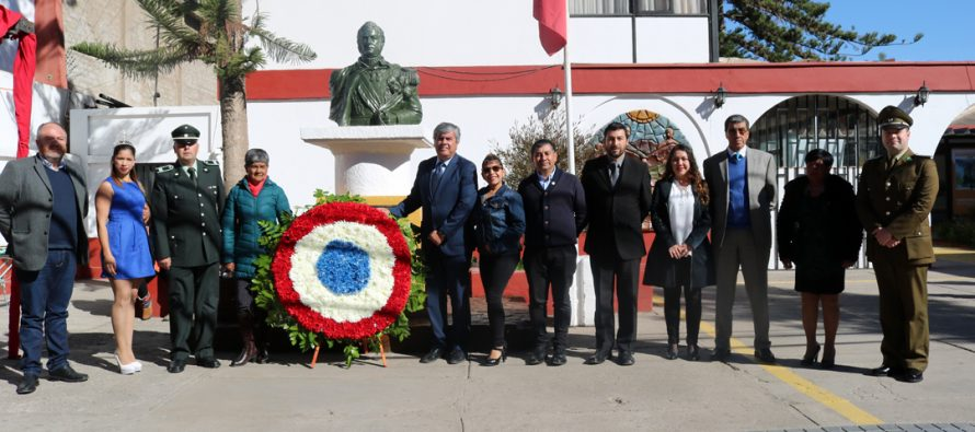 Desfile y acto conmemorativo recuerda en Vicuña el natalicio N°240 de Bernardo O'Higgins