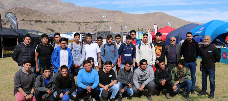 23 jóvenes del Liceo Carlos Moncada Cortés fueron parte del staff mecánico del RallyMobil