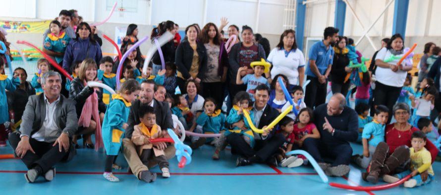 """Con múltiples actividades """"Jardines Activos"""" celebró el Día del Niño en Vicuña"""