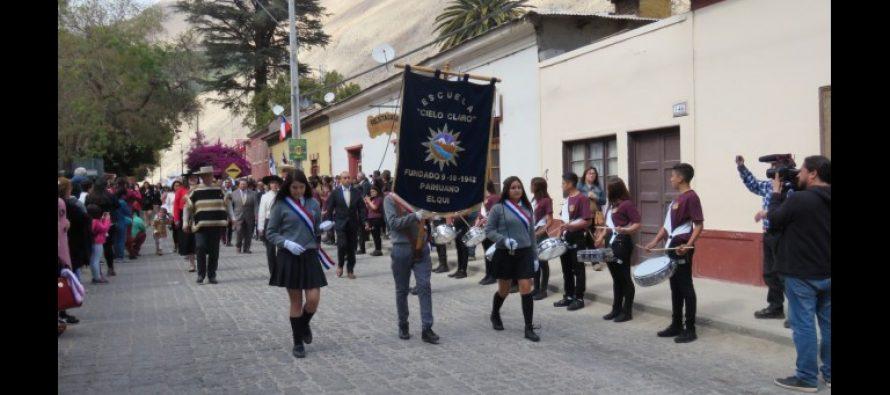 Paihuano celebró los 208 años de aniversario Patrio con actos y desfiles cívicos