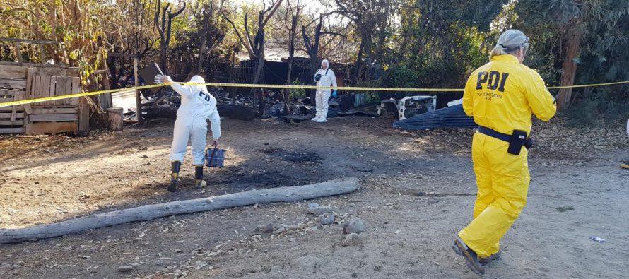 PDI investiga hallazgo de cadáver en incendio de una vivienda en Vicuña