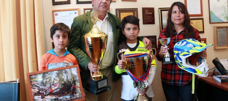 Pequeño deportista de Calingasta salió campeón nacional del campeonato de moto enduro FIM