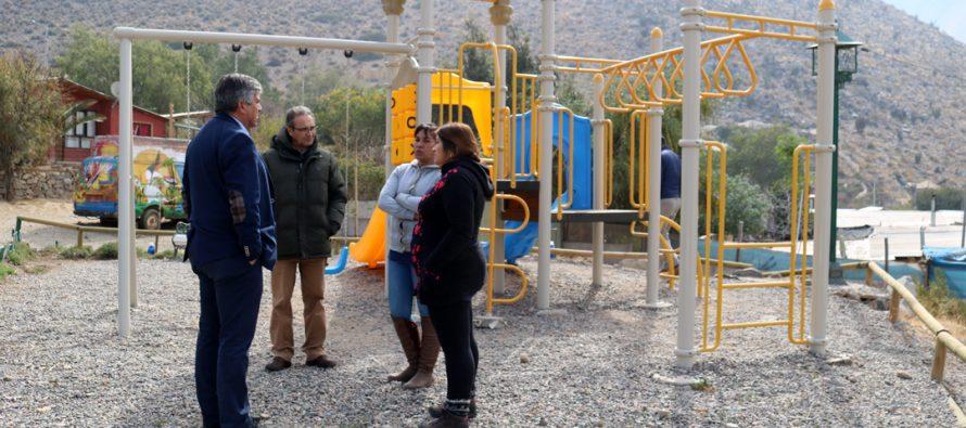 Con una visita en terreno se sigue avanzando con los proyectos de mejoramiento en Rivadavia