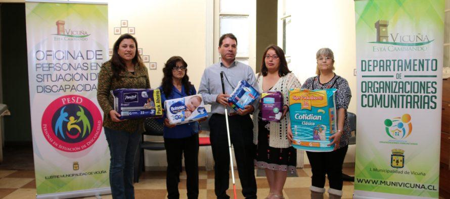 """Cerca de 100 paquetes de pañales se lograron recolectar en """"la campaña del pañal"""" en Vicuña"""