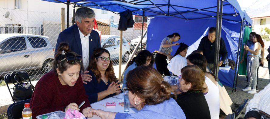 """Vecinas del sector oriente de Vicuña fueron parte del """"Spa en tu Barrio"""""""