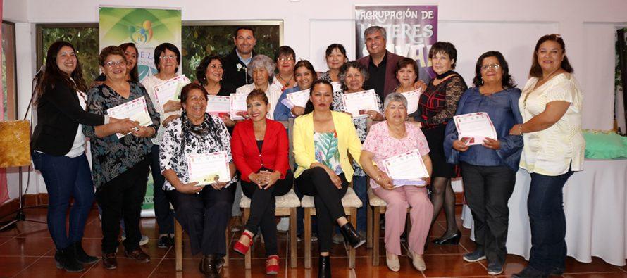 En emotiva ceremonia mujeres de Vicuña se certificaron en taller de bordado en cinta