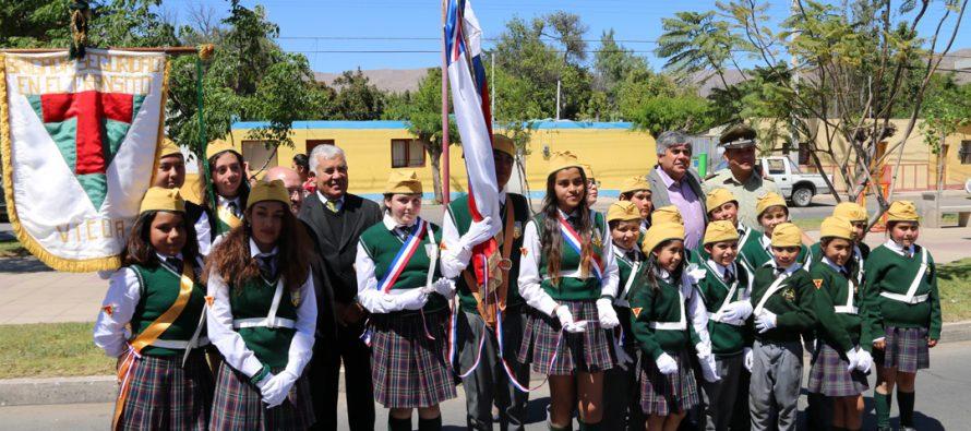 Brigadas Escolares de Vicuña realizan juramento junto a Carabineros de la Quinta Comisaría