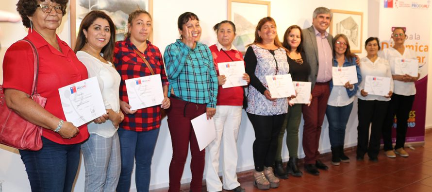 "Prodemu certifica a 26 mujeres vicuñenses en el programa ""Apoyo a dinámica familiar"""