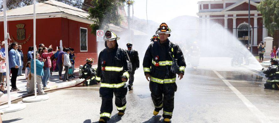Bomberos de Vicuña celebran sus 72 años de vida en el Valle de Elqui