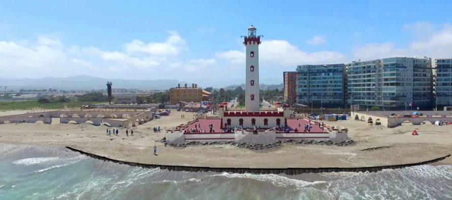 Durante este mes de octubre se iniciarán los trabajos de defensas costeras del Faro Monumental de La Serena
