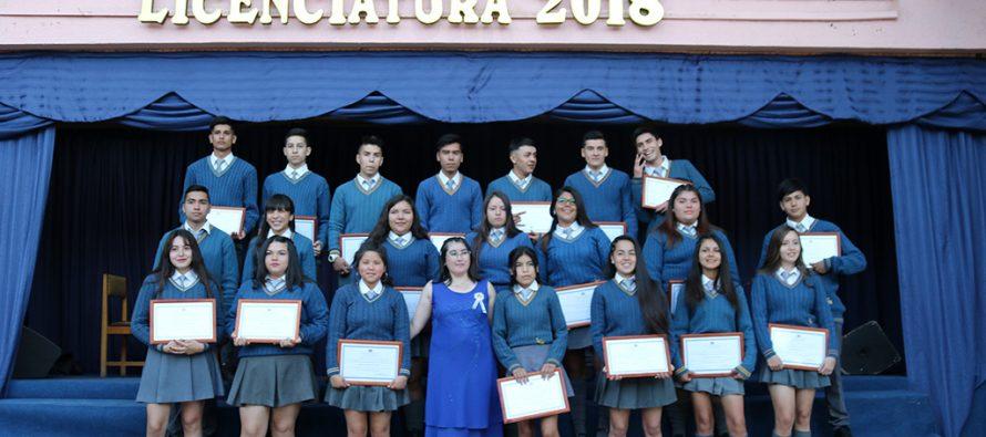 Con una emotiva ceremonia el Liceo Carlos Mondaca vivió la despedida de los 4tos medios