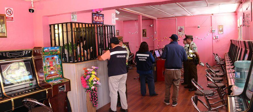 Prohíben el funcionamiento de local con maquinas de juegos en el centro de Vicuña