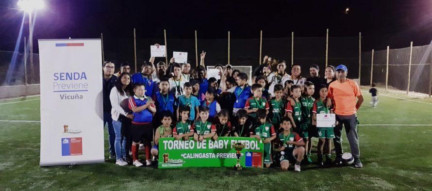 SENDA y Municipio dieron vida a un exitoso campeonato de baby futbol en Calingasta