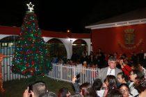 Con  gran presencia familiar comenzó la tradición navideña del encendido de árboles en Vicuña