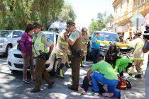 Simulacro de accidente producido por un conductor ebrio impactó a los vecinos de Vicuña