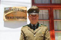 Suboficial Richard Andrade asume como nuevo jefe de la Tenencia de Paihuano