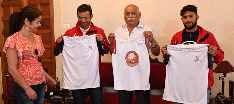 Municipio de La Serena entrega indumentaria deportiva a atletas para el Cruce Los Andes 2019