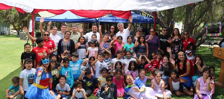 Decenas de niños elquinos disfrutan de las actividades de la escuela de verano en Vicuña