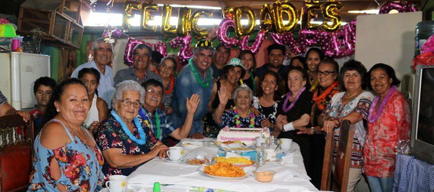 Dos vecinos de Lourdes celebraron sus más de cien años de vida