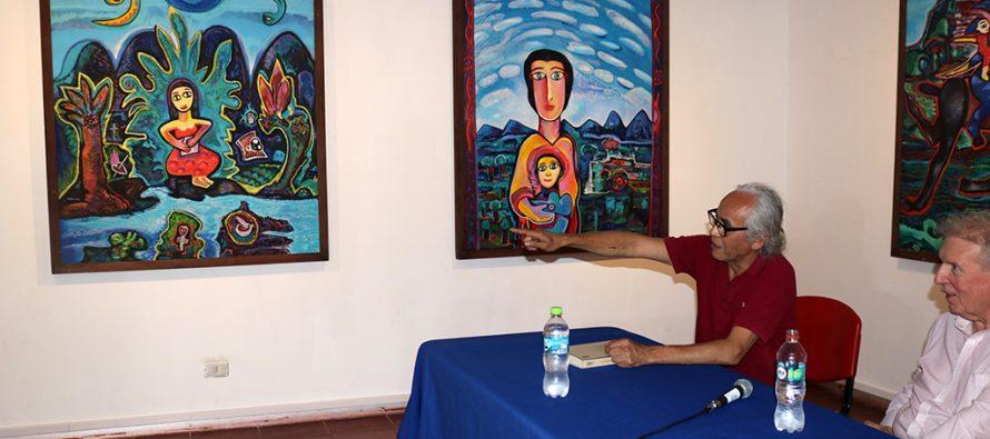 En museo Gabriela Mistral realizan conversatorio respecto a la obra del artista visual  Mario Murúa