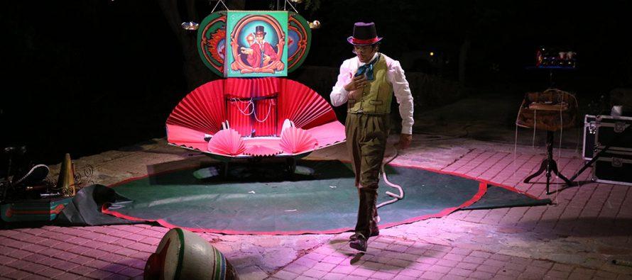 """Gualliguaica disfrutó del espectáculo circense de """"El Señor de los Trompos"""" en una mágica jornada"""