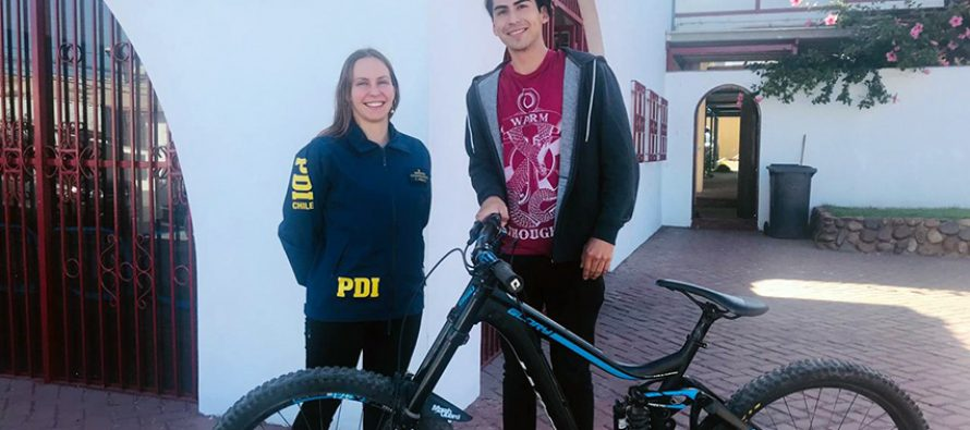 PDI recupera en Vicuña costosa bicicleta sustraída en La Serena