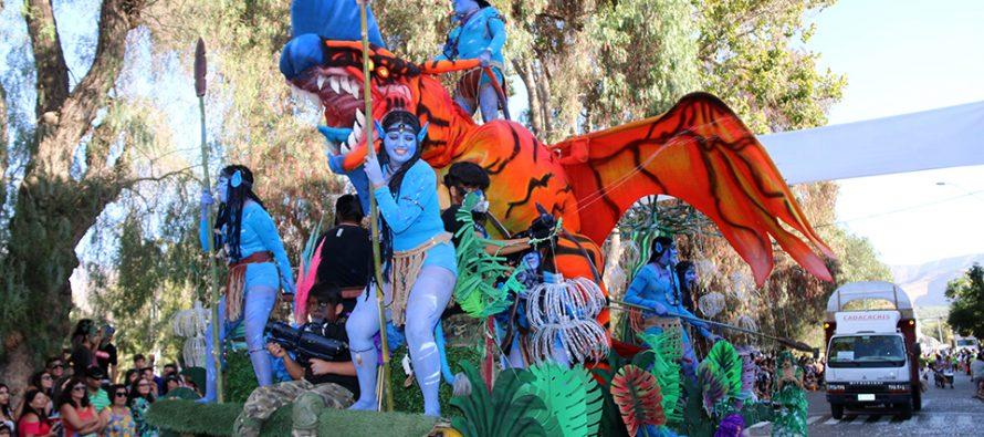 """""""Avatar"""" de la localidad de Altovalsol fueron los ganadores del corso del Carnaval Elquino 2019"""