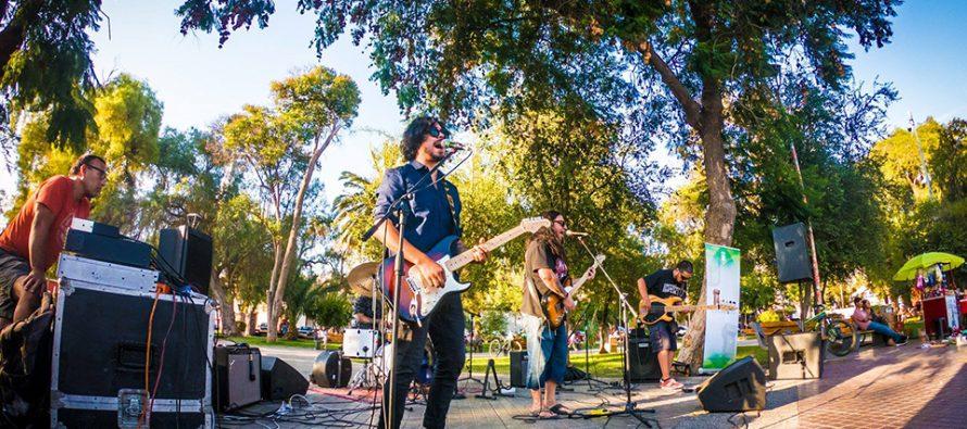 "Banda elquina «Mandrágora» hizo rockear al público de Vicuña en ""Plaza Cultural"""