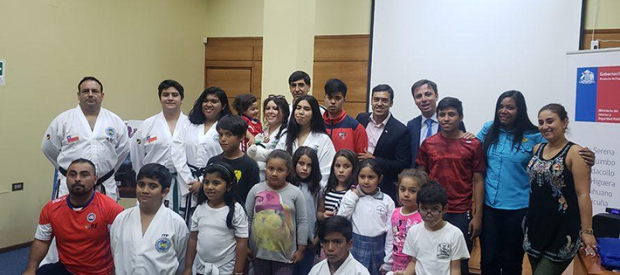Agrupaciones de artes marciales de Paihuano y La Serena reciben implementos deportivos gracias a la Gobernación de Elqui y el IND