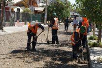 Dolores Pinto: Mejoran pavimento de emblemática calle de Vicuña