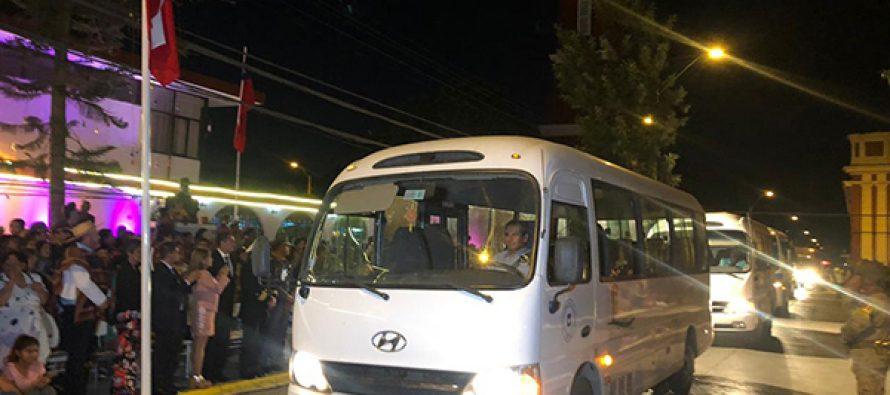 Suman nuevos recorridos de los minibuses de traslados de escolares en la comuna de Vicuña