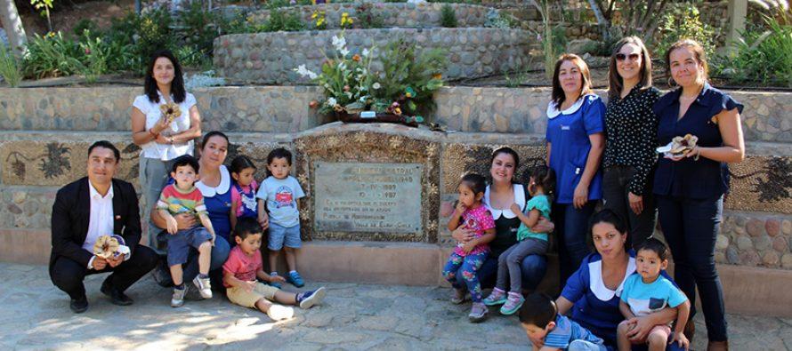 Párvulos también conmemoran el 130° natalicio de Gabriela Mistral en Montegrande