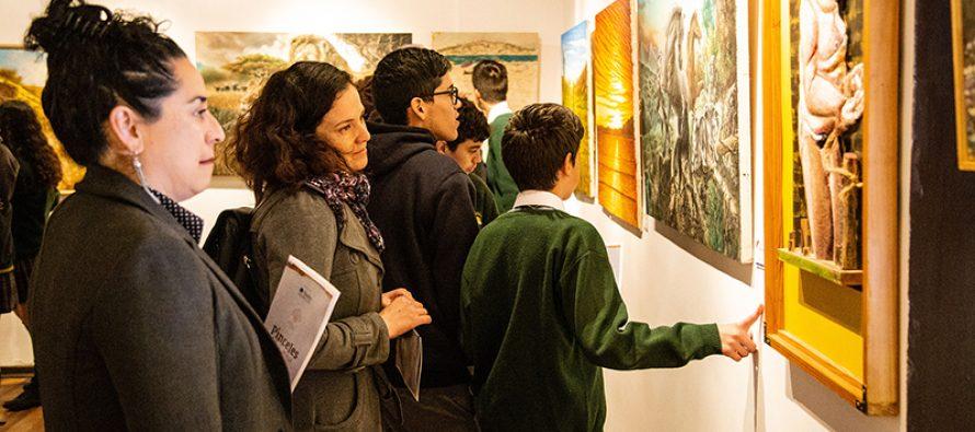 """Con encuentro entre pintores y estudiantes inauguran """"Pinceles del Limarí"""" en la Casa de la Cultura de Vicuña"""